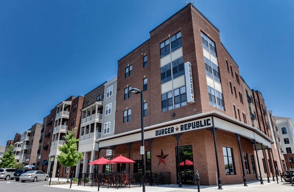 Burger Republic restaurant located in the Lenox Village neighborhood in Nashville