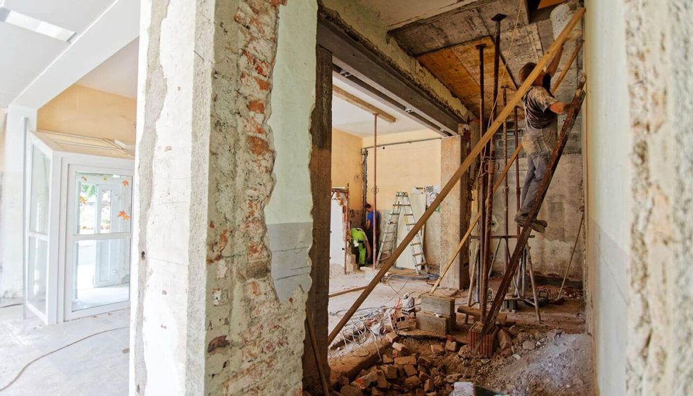Image of the interior of a house being renovated