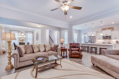 Image of the living room of an open concept single family home