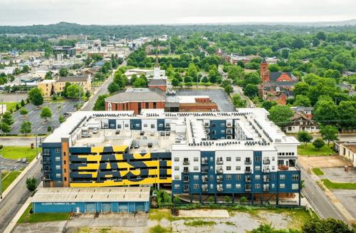 Drone image of East Nashville